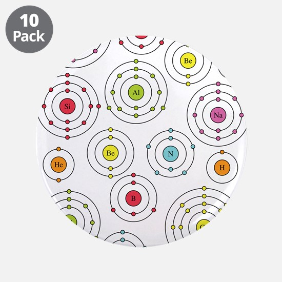 """Periodic Shells 3.5"""" Button (10 pack)"""