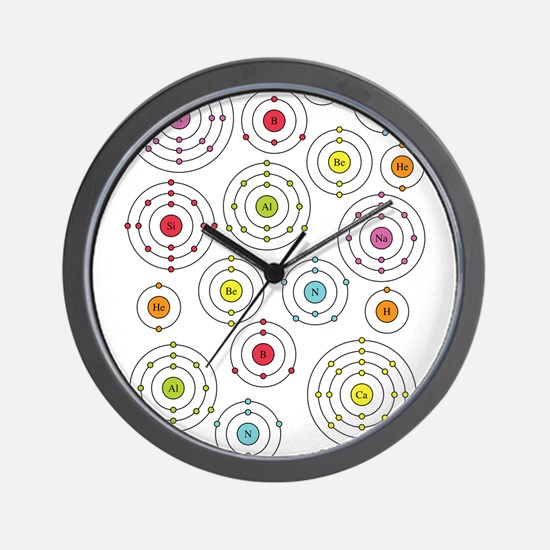 Periodic Shells Wall Clock