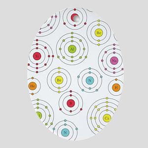 Periodic Shells Ornament (Oval)