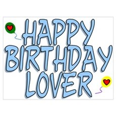 Happy Birthday Lover Poster