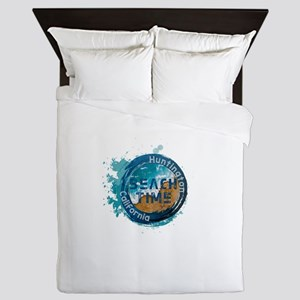 California - Huntington Beach Queen Duvet
