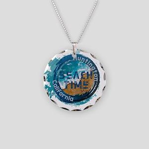 California - Huntington Beac Necklace Circle Charm