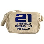 21st Birthday Messenger Bag