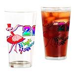 21st Birthday Gifts, 21, Magi Drinking Glass