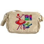 21st Birthday Gifts, 21, Magi Messenger Bag