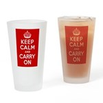 50th Birthday Keep Calm Drinking Glass