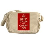 50th Birthday Keep Calm Messenger Bag