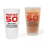 50th Gifts, Rated 50 Drinking Glass