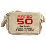 50th Gifts, Rated 50 Messenger Bag