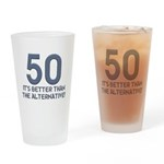 50th Gift Ideas, 50 Drinking Glass
