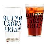 Quinquagenarian, 50 Drinking Glass