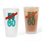 60th Birthday Gifts, 59 to 60 Drinking Glass