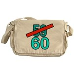 60th Birthday Gifts, 59 to 60 Messenger Bag