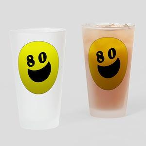 80th Birthday Gifts Drinking Glass