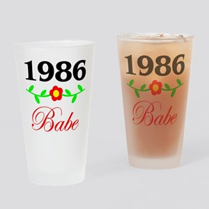 1986 Babe Drinking Glass