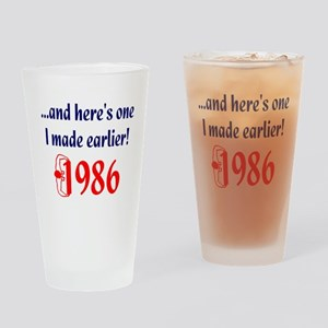 Made in 1986 Drinking Glass