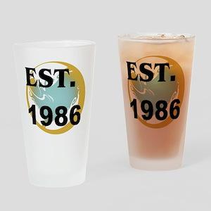 Est. 1986 Drinking Glass