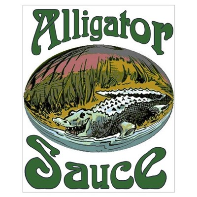 Alligator Sauce Logo Print Canvas Art