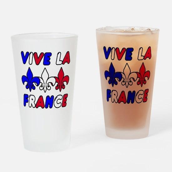 Vive La France Drinking Glass