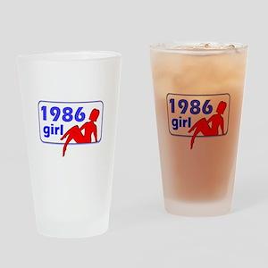 1986 Drinking Glass