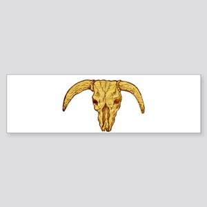 longhorn bull skull Sticker (Bumper)