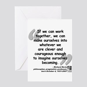 Rorty Together Quote Greeting Card