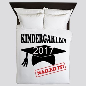 Custom Kindergarten Nailed It Queen Duvet