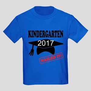 Custom Kindergarten Nailed It Kids Dark T-Shirt