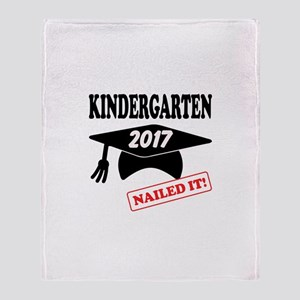 Custom Kindergarten Nailed It Throw Blanket