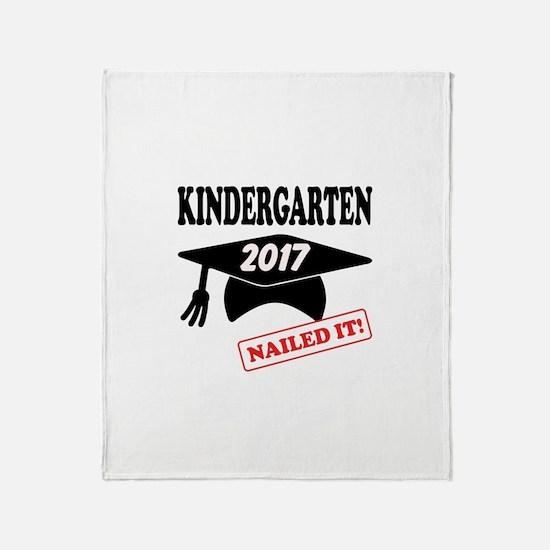 Custom Kindergarten Nailed It Throw Blanket