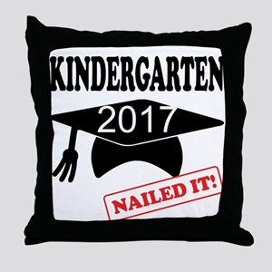 Custom Kindergarten Nailed It Throw Pillow