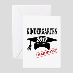 Custom Kindergarten Nailed It Greeting Card
