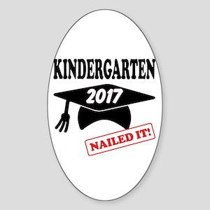 Custom Kindergarten Nailed It Sticker (Oval)