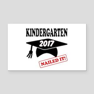 Custom Kindergarten Nailed It Rectangle Car Magnet
