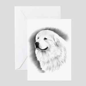 Great Pyrenees Charcoal Drawing Greeting Cards