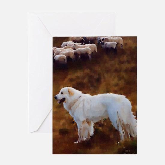 Great Pyrenees Greeting Card - Sheep Guardian
