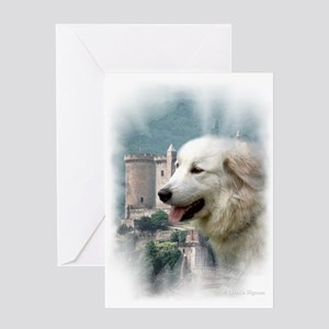 Great Pyrenees Greeting Card - Pyr Castle