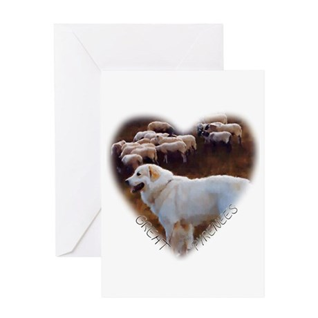 Great Pyrenees Greeting Card - Heart