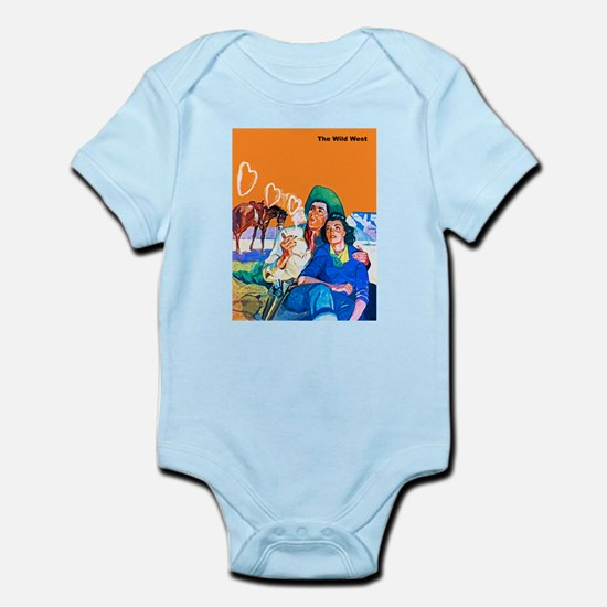 Wild West Cowboy & Cowgirl Lovers Infant Bodysuit