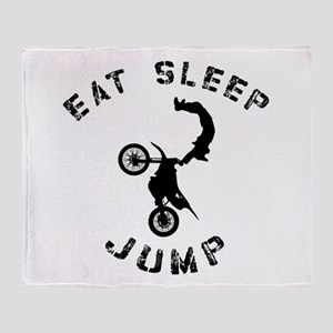 Eat Sleep Jump FMX Throw Blanket