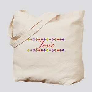 Josie with Flowers Tote Bag