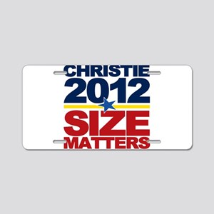 Christie 2012: Size Matters Aluminum License Plate