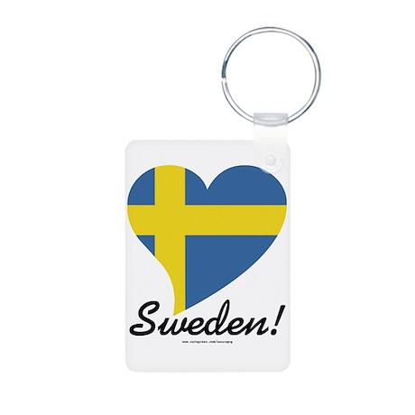 Heart Sweden (World) Aluminum Photo Keychain