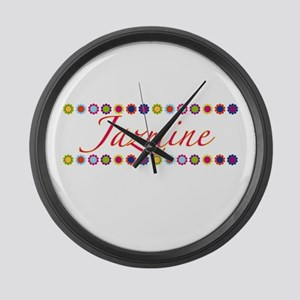 Jazmine with Flowers Large Wall Clock