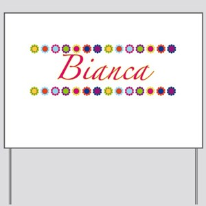 Bianca with Flowers Yard Sign