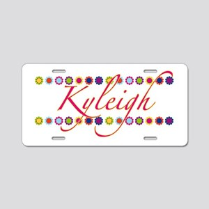 Kyleigh with Flowers Aluminum License Plate