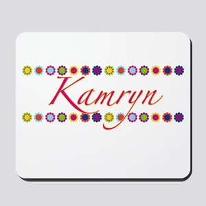 Kamryn with Flowers Mousepad