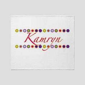 Kamryn with Flowers Throw Blanket