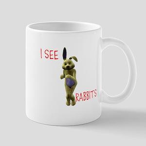 I see RABBITS! sims Mug