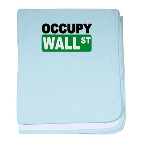 Occupy Wall St. baby blanket